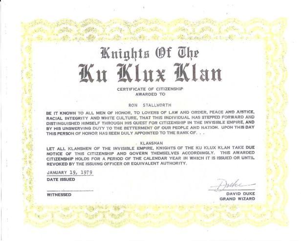 Klan Certificate